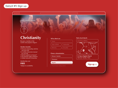 DailyUI #1 –Sign up