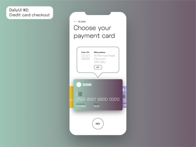 DailyUI #2: Credit Card Checkout dailyuichallenge dailyui ios app design ios app credit card payment credit card checkout creditcard uidesign uxdesign ux ui