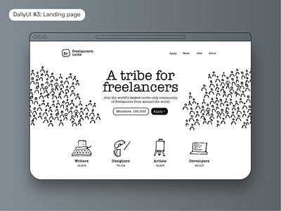 DailyUI #3: Landing page freelance designer freelance design freelance web design webdesign website concept landing page design landing page landingpage userinterface uidesign ui uxdesign ux