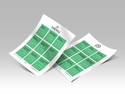 Nutritional Menu Design - Protrition nutrition menu design food