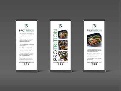 Vertical Banner Designs - Protrition mockup uk norfolk norwich nutrition food graphics design banner vertical