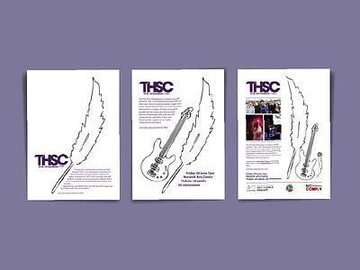 Design Iterations - THSC Flyer uk norfolk norwich stages evolution mockup leaflet flyer iteration design