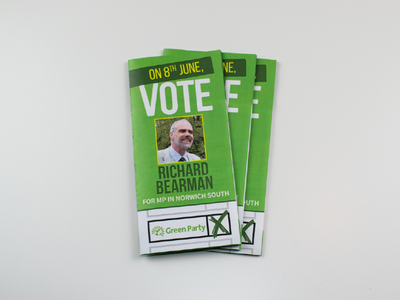 Election Leaflet Design - Norwich Green Party flyer uk norfolk party green norwich political politics election design leaflet