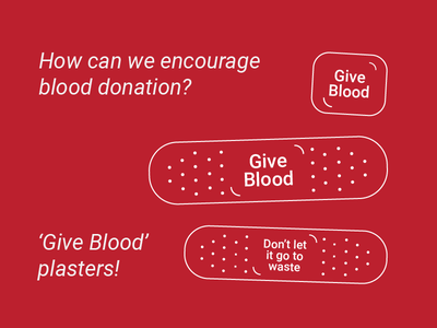 Give Blood Campaign - Plasters product design concept health pharmacy healthcare marketing advertising campaign blood donation