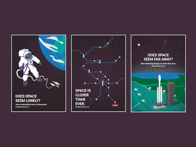 Space Travel Campaign - Posters concept branding advertisement travel space print posters