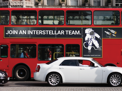 Space Travel Campaign - Bus Advert travel space print posters concept branding advertisement