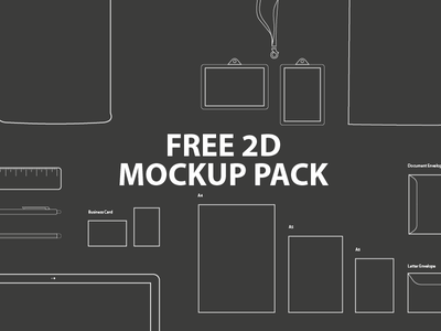 FREE 2D Mockup Pack template tool gift resource set collection pack mockup 2d free