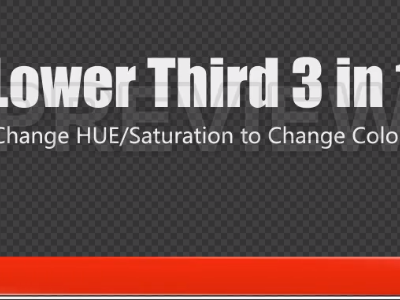 Lower Third 3-In-1 Changeable Colors