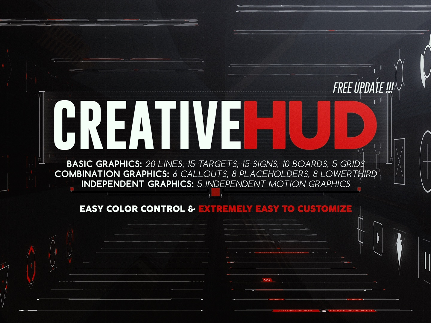 Creative HUD - After Effects Project File by Wuyachao on