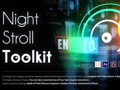 Night Stroll Toolkit - After Effects Project
