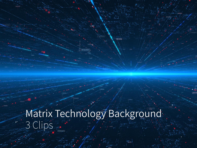 Matrix Technology Background 3 Clips technology space sci fi network matrix internet information hi-tech digital data communication business background 5g