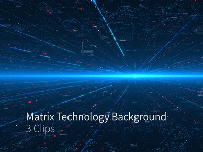 Matrix Technology Background 3 Clips