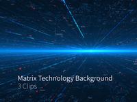 Matrix Technology Background 3 Clips