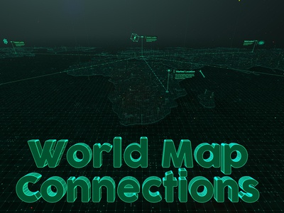World Map Connections - Cinema 4D Templates