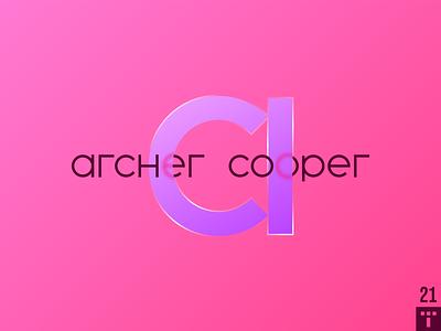 Archer Cooper 2 app icon branding logotype minimal design