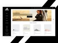 """Adidas "" Website Design Concept"