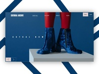 """Editorial Archive"" Fashion website design concept"