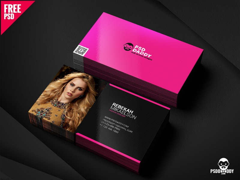 Fashion Designer Business Card Free Psd By Mohammed Asif On Dribbble