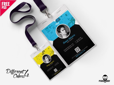 Corporate Identity Card Template PSD Bundle psd template psd photo id card office id card office id identity card id card free template free psd freebie employee id design