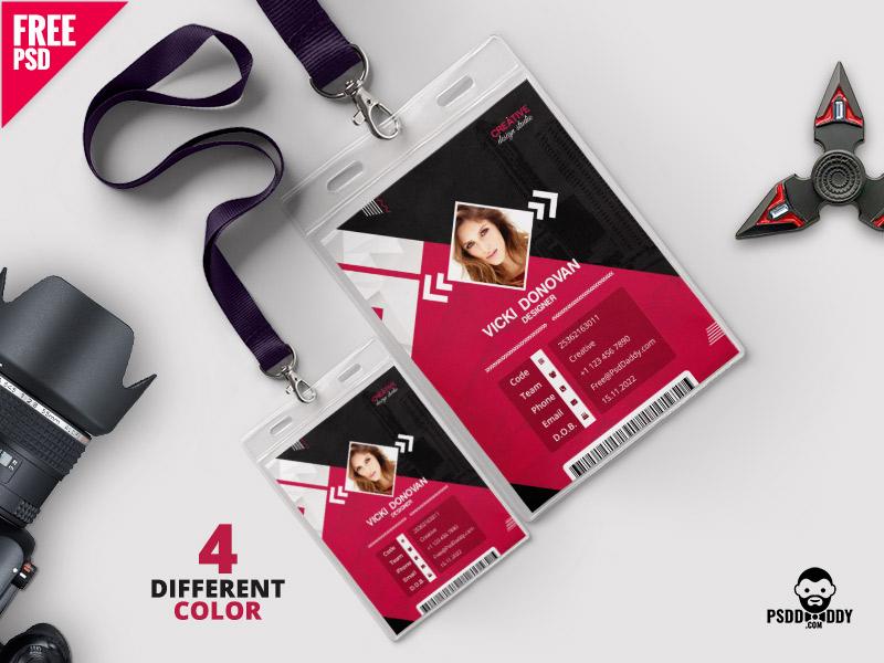 Photo Identity Card Template PSD Bundle design employee id freebie free psd free template id card identity card office id office id card photo id card psd psd template