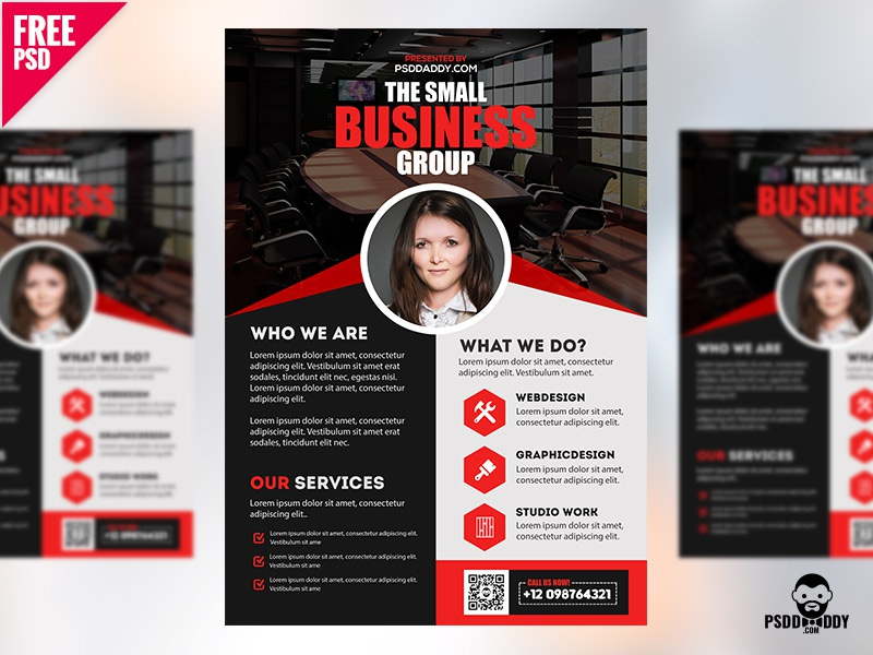 Professional Business Flyer PSD Freebie corporate flyer creative agency flyer bundle freebie free flyer free psd free template psd psd flyer psd template