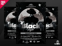 Black Night Club Flyer PSD
