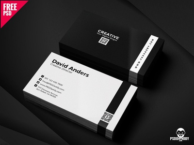 Simple business cards psd by mohammed asif dribbble simple business cards psd reheart Images