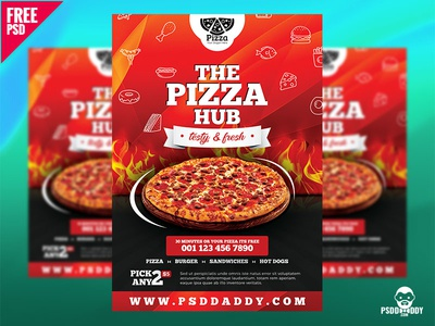 Pizza Hub Free Flyer Template creative download freebie food flyer junk food special pizza restaurant flyer restaurant pizzeria pizza flyer