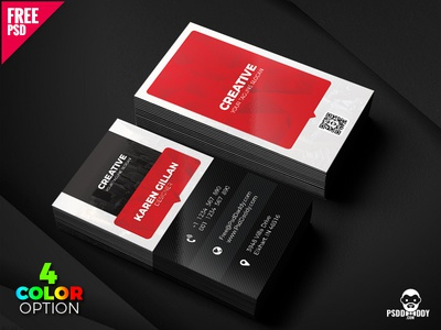 Creative business card template psd set by mohammed asif dribbble creative business card template psd set cheaphphosting Images