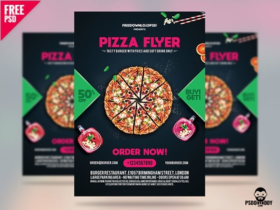 Pizza Flyer Free Template pizza flyer pizzeria restaurant restaurant flyer special pizza junk food food flyer freebie download creative