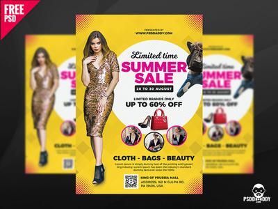 Summer Sale Flyer Free PSD