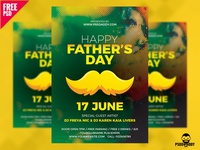 Fathers Day Flyer Free PSD