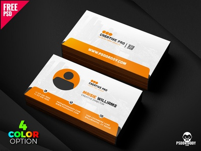 Creative business card psd set by mohammed asif dribbble creative business card psd set reheart Image collections