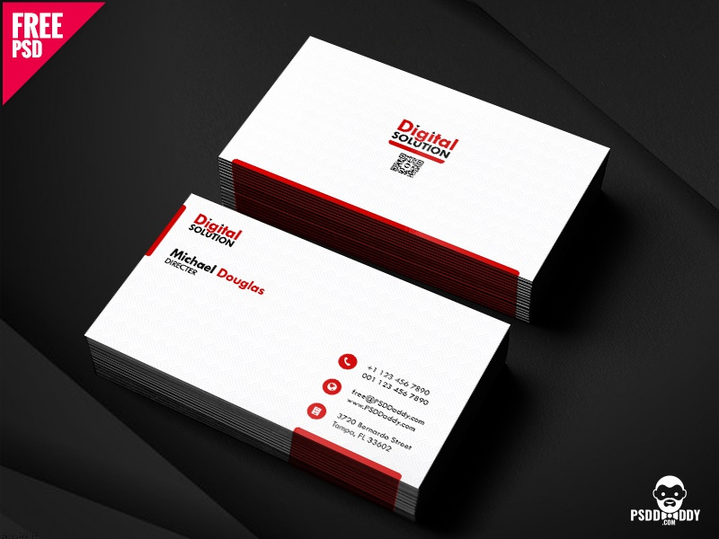 Simple business card psd template by mohammed asif dribbble download simple business card psd template new in a business leaves an impression in your very first meeting this business card template will surely help friedricerecipe Images