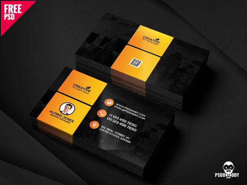 Graphic Designer Business Card Free Psd By Mohammed Asif Dribbble
