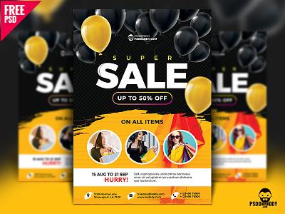 Super Sale Flyer Design Free PSD psd shopping flyer photoshop multipurpose flyer free psd free download flyer fashion flyer e commerce flyer business flyer a4