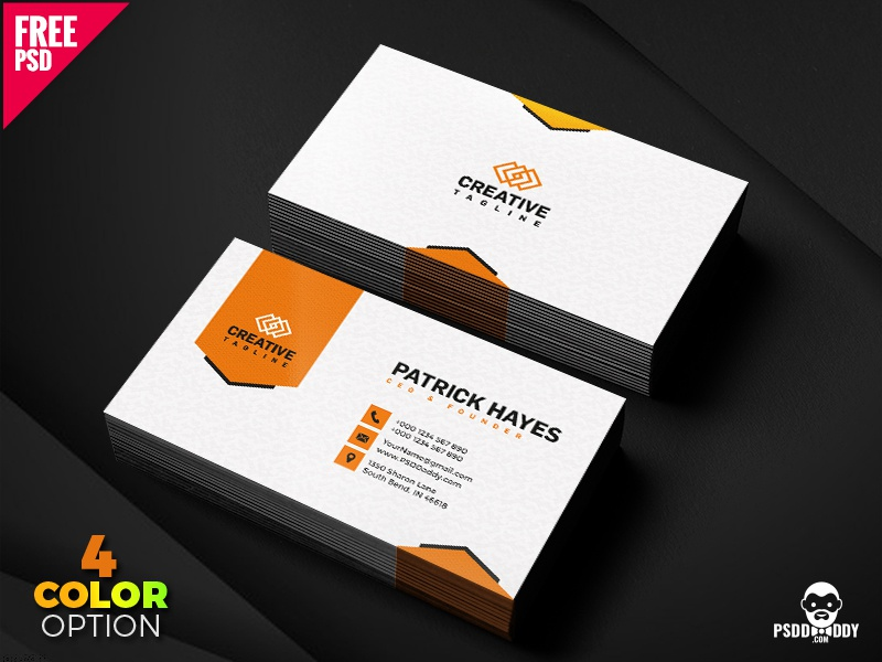 business card design free psd set by mohammed asif dribbble