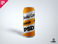 Soda Can PSD Mockup
