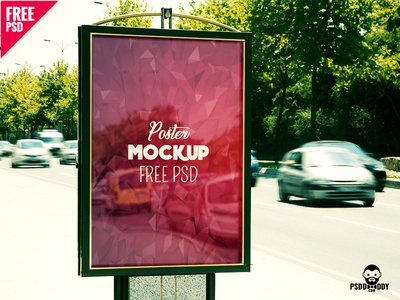 Poster Mockup Free PSD hoarding mockup advertising mockup billboard outdoor mockup billboard mockup bus stand flyer mockup poster mockup