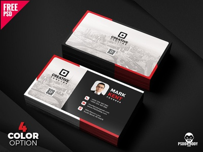 Creative and Clean Business Card Free PSD Bundle visiting card psd template psd free template free psd freebie creative design design clean card design business card agency card