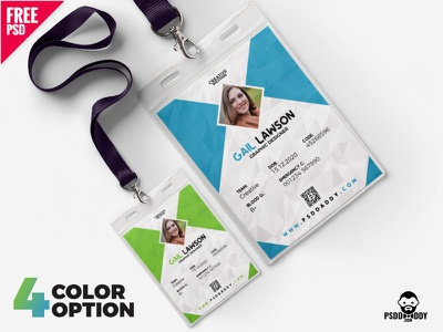 Office ID Card Design Template PSD set clean ui business card free psd watchman i card duty card design freebie download psd design i card design identity card office card icard