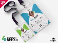 Office ID Card Design Template PSD set