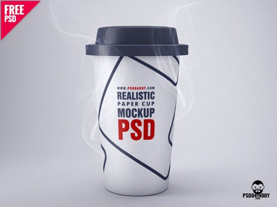 Realistic Paper Cup Mockup PSD branding agency mockup paper mockup psd cup mockup cup mockup paper cup mockup paper cup