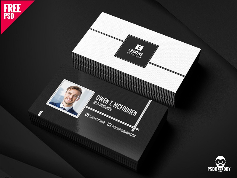Business Name Card Free PSD by Mohammed Asif - Dribbble