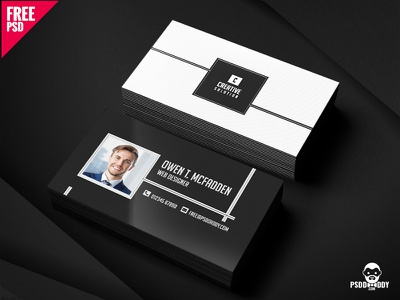 Business Name Card Free PSD visiting card psd template psd free template free psd freebie creative design design clean card design business card agency card