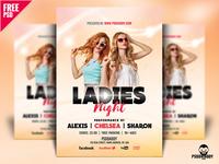 Ladies Night Flyer Design Free PSD