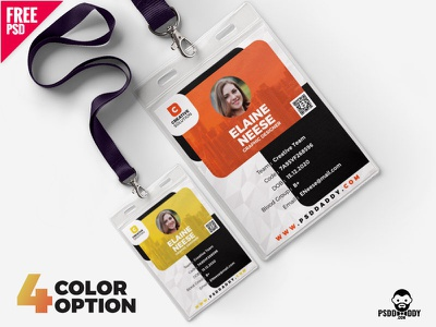 Creative Identity Card Design Free PSD Bundle watchman i card duty card design freebie download psd design i card design identity card office card icard
