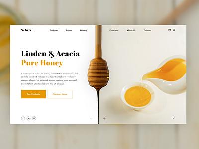Honey Landing Page photoshop design landing acacia linden honey bee