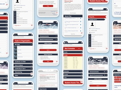 School Website Redesign (Mobile) ed tech visualdesign responsive mobile redesign education ux app web ui design illustration