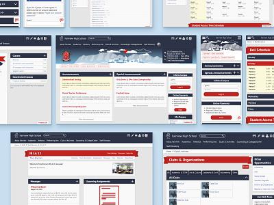 School Website Redesign (Desktop) ed tech visualdesign responsive mobile redesign education ux app web ui design illustration